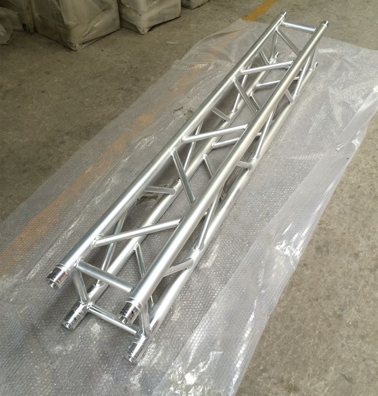2 Meter 4 Sides Brace Tube 290 * 290mm Spigot Aluminum Stage Truss For Outdoor & Indoor