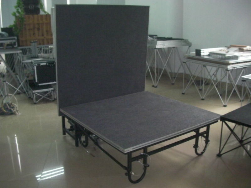 Black Portable Stage Platforms For Mini Show Temporary Stage Platforms