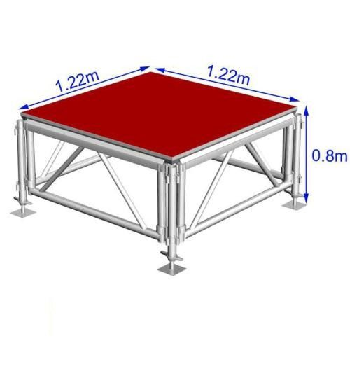 90*90cm Folding Organic Glass / Wooden Stage Platforms For Aluminum Stage Truss Show